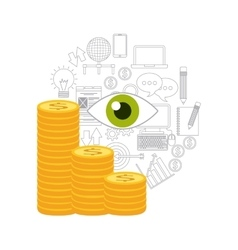 money coin icon design vector image