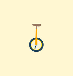 monocycle icon flat element vector image vector image