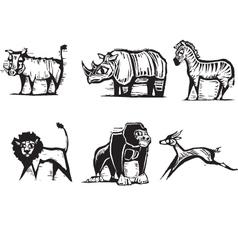 safari animals print vector image vector image