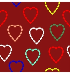 Abstract seamless heart pattern vector image vector image