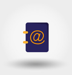 address book vector image vector image