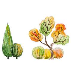 autumn trees vector image