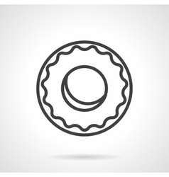 Black simple line donut icon vector image vector image