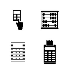 calculator simple related icons vector image vector image