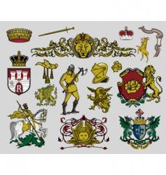 heraldic elements vector image vector image