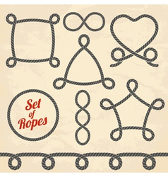 Set of ropes vector