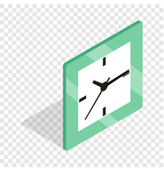 square clock isometric icon vector image vector image