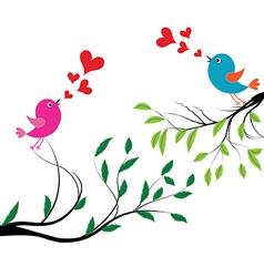 Bird with love of a birds wedding vector image vector image