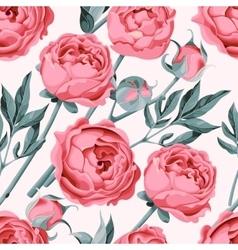 Peony flower seamless vector image