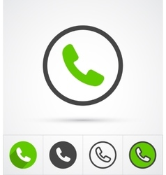 Phone in circle call icon vector image