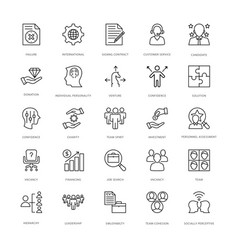 Project management line icons 3 vector