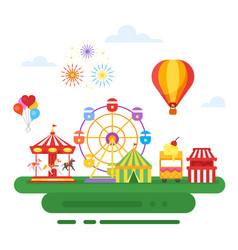 Amusement park for kids vector