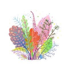 autumn gentle fall leaves composition vector image
