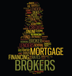 mortgage brokers for home loan refinance vector image vector image