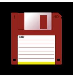 old data media vector image