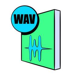 Wav file icon cartoon vector