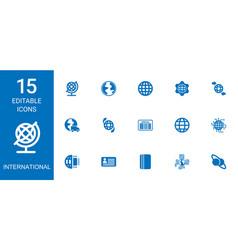 15 international icons vector