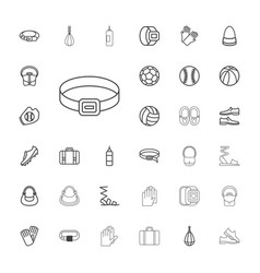 33 leather icons vector