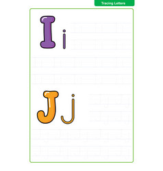 abc alphabet letters tracing worksheet vector image