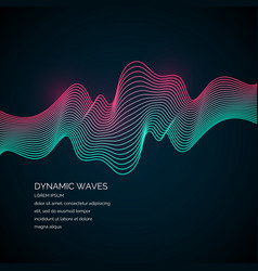 Abstract background with a dynamic waves vector