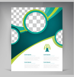 Abstract template design flyer cover with vector