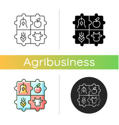 Agricultural cooperative icon vector