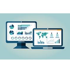 Analytics icons vector image