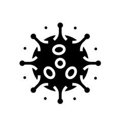 Antibodies attacking virus glyph icon vector
