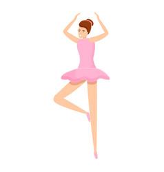 Ballerina dancer icon cartoon style vector