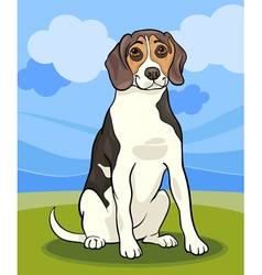 Beagle dog cartoon vector