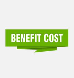 Benefit cost vector