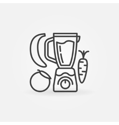 Blender with fruits line icon vector image