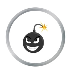 Bomb virus icon in cartoon style isolated on white vector