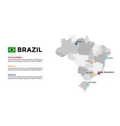 Brazil map infographic template slide vector