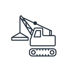 building crane icon symbols vector image