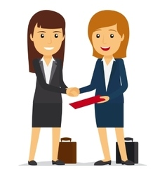 Business women shaking hands vector