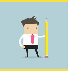 businessman with pencil vector image