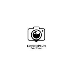 Camera pin logo icon vector