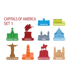 Capitals of America vector image