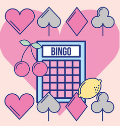 casino bingo game luck leisure image design vector image