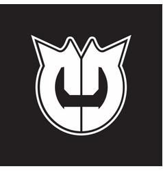 cc logo monogram with horn shape style design vector image