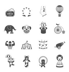 Chapito circus icons set black vector image