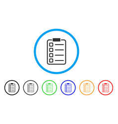 Checklist pad rounded icon vector