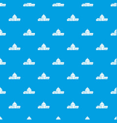 Chemical hangar pattern seamless blue vector