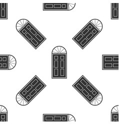 closed door icon seamless pattern vector image