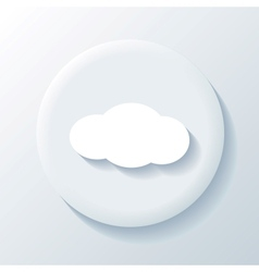 Cloud 3D Paper Icon vector image vector image