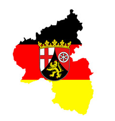coat arms rhineland-palatinate over map vector image