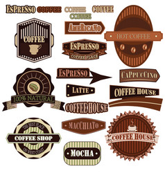 coffee company green vector image