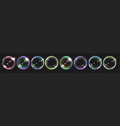 colored soap bubbles vector image