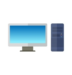 Computer Monitor with Computer System Unit vector